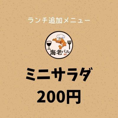 200円ミニサラダチケット(追加メニュー) / クレジットカード、キャッシュレスでのお会計も「現地払い」をご選択ください。