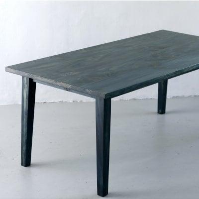 琉球松を琉球藍で藍染した家具 AIJUダイニングテーブルW150