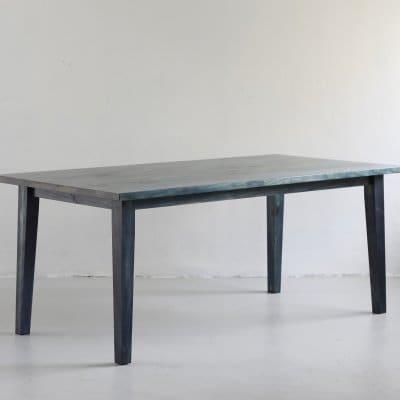 琉球松を琉球藍で藍染した家具 AIJUダイニングテーブルW180