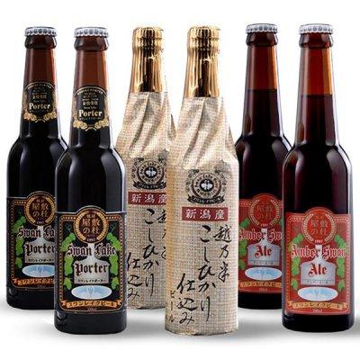 【当店人気ナンバー1】 金賞受賞ビール3種  スワンレイク金賞6本ビールセット