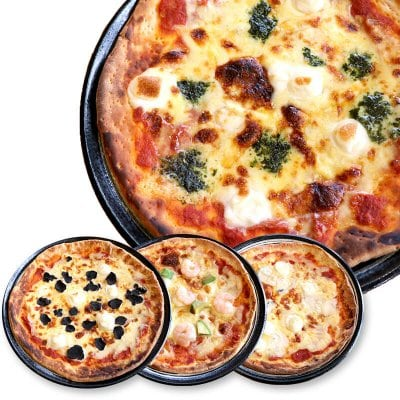 【手作り人気ピザ4種】(4種チーズ・トリュフ・エビとアボカド・マルゲリータ)新潟小麦ゆきちから使用。