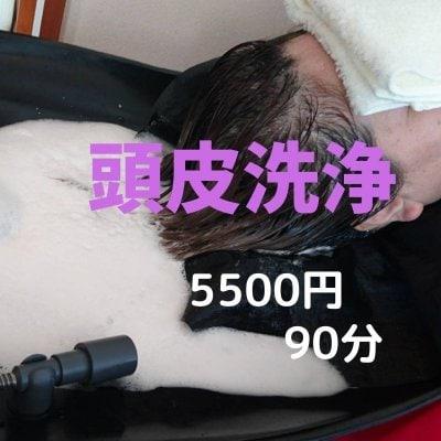 5500円(税込)頭皮洗浄 90分