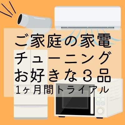【家電チューニング1ヶ月トライアル】ご家庭のお好きな家電製品3アイテムのマイナス電磁波さようなら!!家族みんな健康に /電子レンジ・冷蔵庫・ドライヤー・エアコンなど