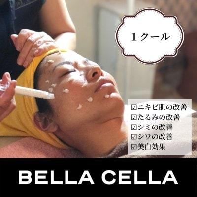 1クール(週1・4セット)|BELLA CELLA(ベラセーラ)のフェイシャルトリートメント(サロンケアを週に1回、連続4回行うプログラムです)(現地払い限定)