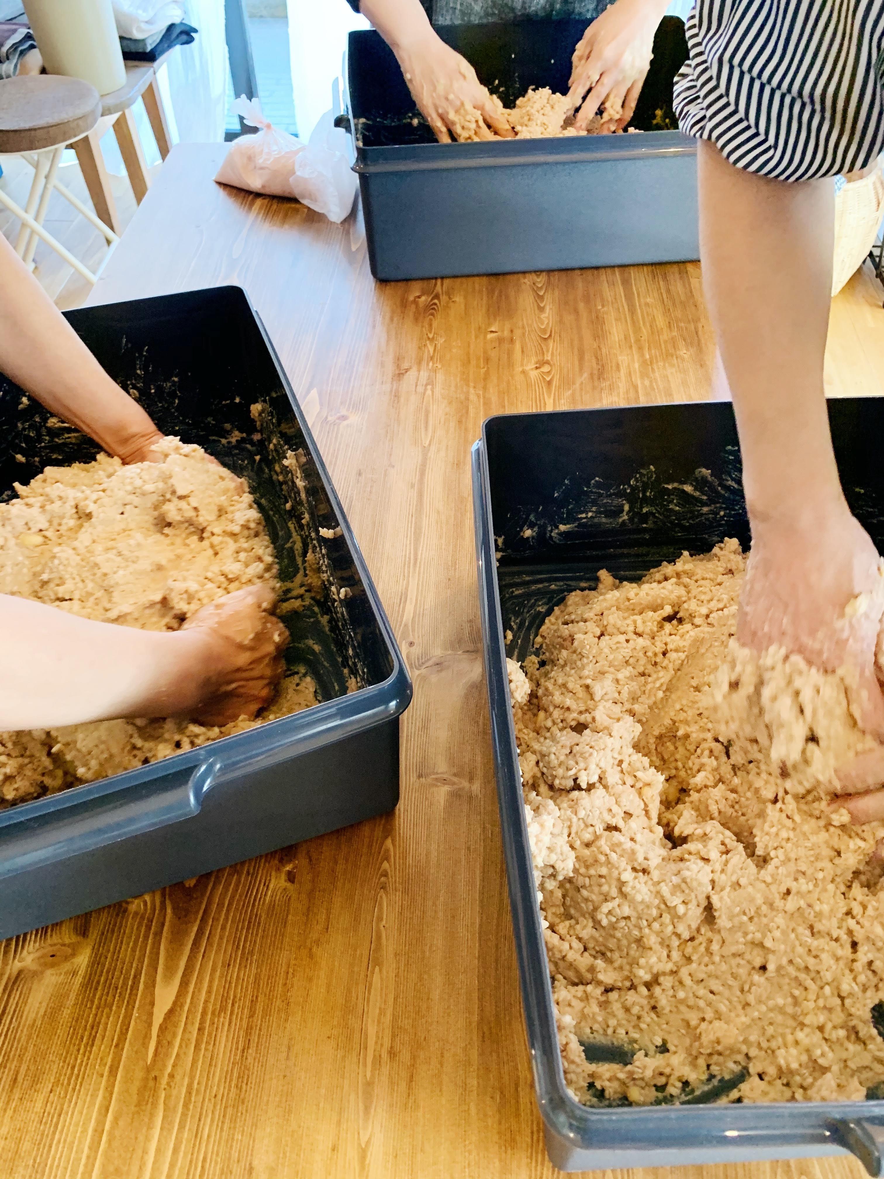 10月11月12月【現地払いのみ】約5.5kgお持ち帰り 麦味噌仕込みレッスンのイメージその1