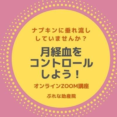ぷれな助産院の月経血をコントロールしよう ZOOMオンライン講座