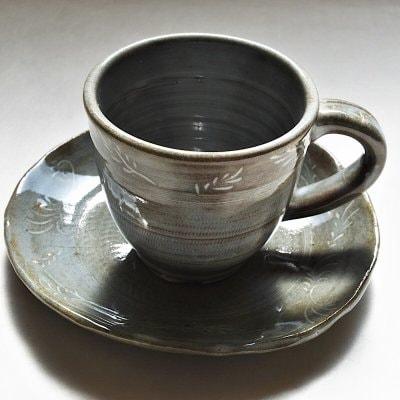 象嵌風コーヒーカップ&ソーサ―1客