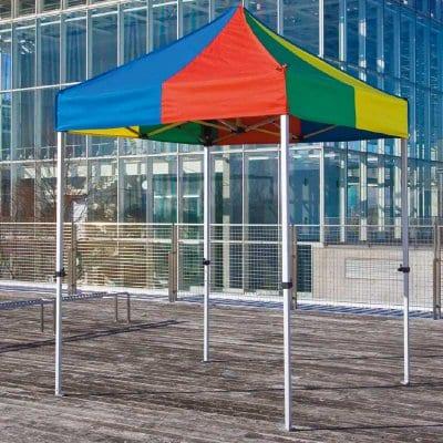 イベントテント かんたんてんと3 KA/1W 1.8m×1.8m オールアルミフレーム 送料無料(一部地域除く) ワンタッチ タープ 日除け 日よけ
