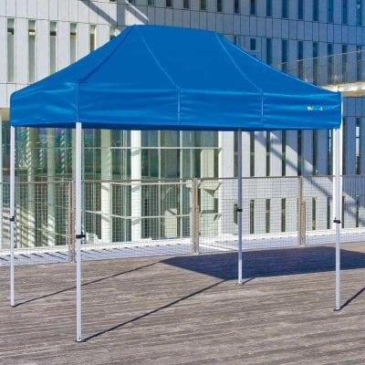イベントテント かんたんてんと3 KA/1.5W 1.8m×2.7m スチール&アルミ複合フレーム 送料無料(一部地域除く) ワンタッチ タープ 日除け 日よけ