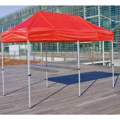 イベントテント かんたんてんと3 KA/2W 1.8m×3.6m スチール&アルミ複合フレーム 送料無料(一部地域除く) ワンタッチ タープ 日除け 日よけ