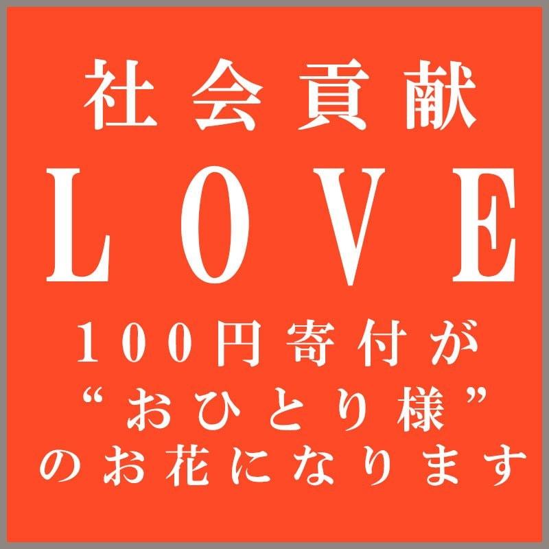 【社会貢献チケット】 〜あなたの100円がおひとり様のお花に変わります〜のイメージその1