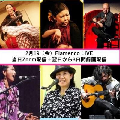 2月19(金)FlamencoLIVE 当日Zoom配信+翌日から 3日間の録画・編集されたものを配信致します。