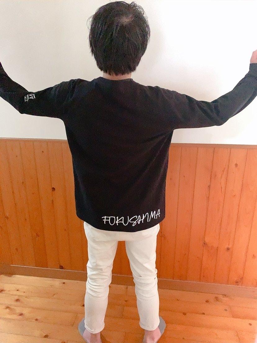 福島建設オリジナルTシャツ長袖のイメージその2