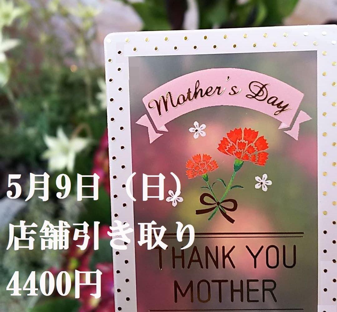 【母の日】5月9日日曜日 店舗引き取り用 4400円 ご予約チケットのイメージその1