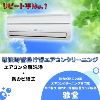 壁掛け型 エアコンクリーニング+防カビ施工(1台)