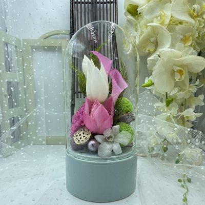 【蓮】ガラスドーム御供え花