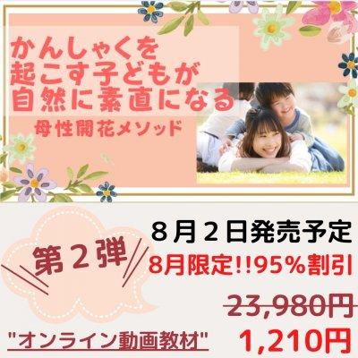 第2弾・8/2販売予定‼「かんしゃくを起こす子どもが自然に素直になる母性開花メソッド」オンライン動画教材
