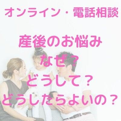 産後のお悩み「なぜ?どうして?どうしたらよいの?」オンラインまたは電話相談(約30〜60分)/