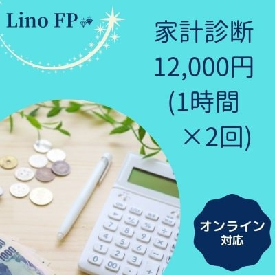 家計診断 12,000円/1時間✖️2回面談 Lino FP