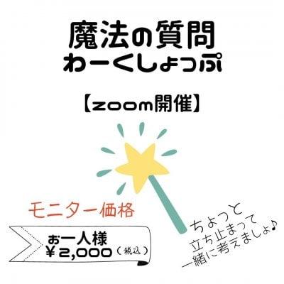 【2回分】*「魔法の質問わーくしょっぷ」webチケット*モニター価格