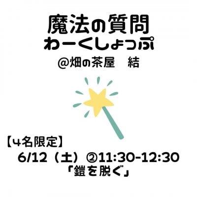 【リアル会】6/12(土)②11:30*魔法の質問わーくしょっぷ「鎧を脱ぐ」*高ポイント*モニター価格