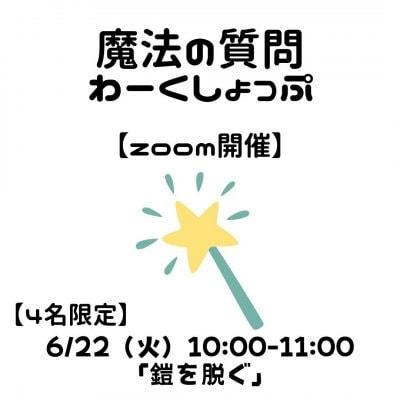 【zoom】6月22日(火)10:00「鎧を脱ぐ」*「魔法の質問わーくしょっぷ」webチケット*高ポイント*モニター価格