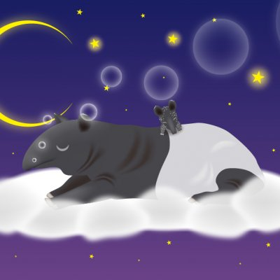 【年中】A4イラスト No.185 Sweet Dreams
