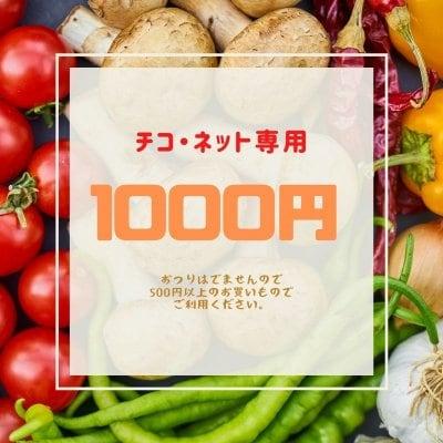 ショッピング金券【1000円】チコ・ネットでの新鮮野菜などのお買い物で利用いただけます《現地払い専用》