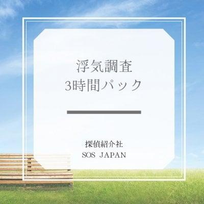 3時間パック浮気調査55000円 探偵紹介社sos japan