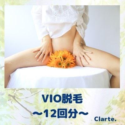 VIO脱毛[12回分] 北千住 西新井 脱毛 Clarte.(クラルテ)