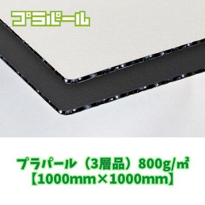 プラパール 10枚(3層品)800g/㎡ (PDPPZ白黒白)【1100㎜×1100㎜】