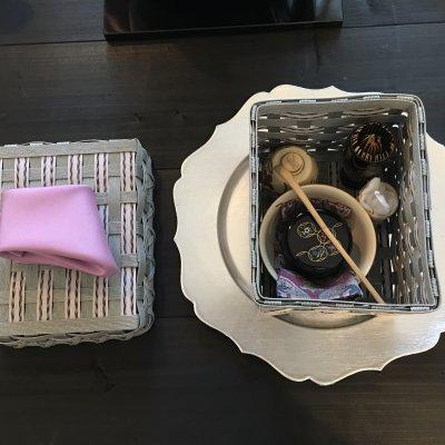 テーブルスタイルで、茶箱のお稽古
