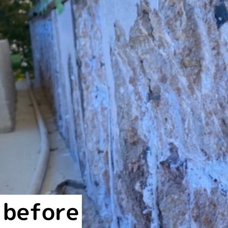 お墓の左官補修工事のイメージその2