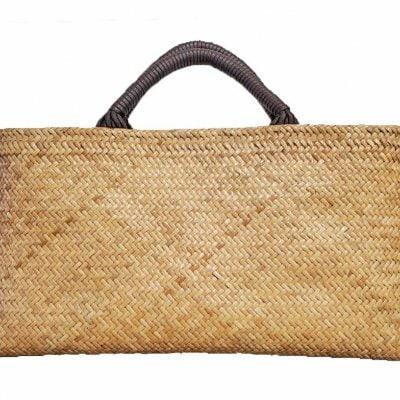 夏にピッタリ藤の網代編みバッグ