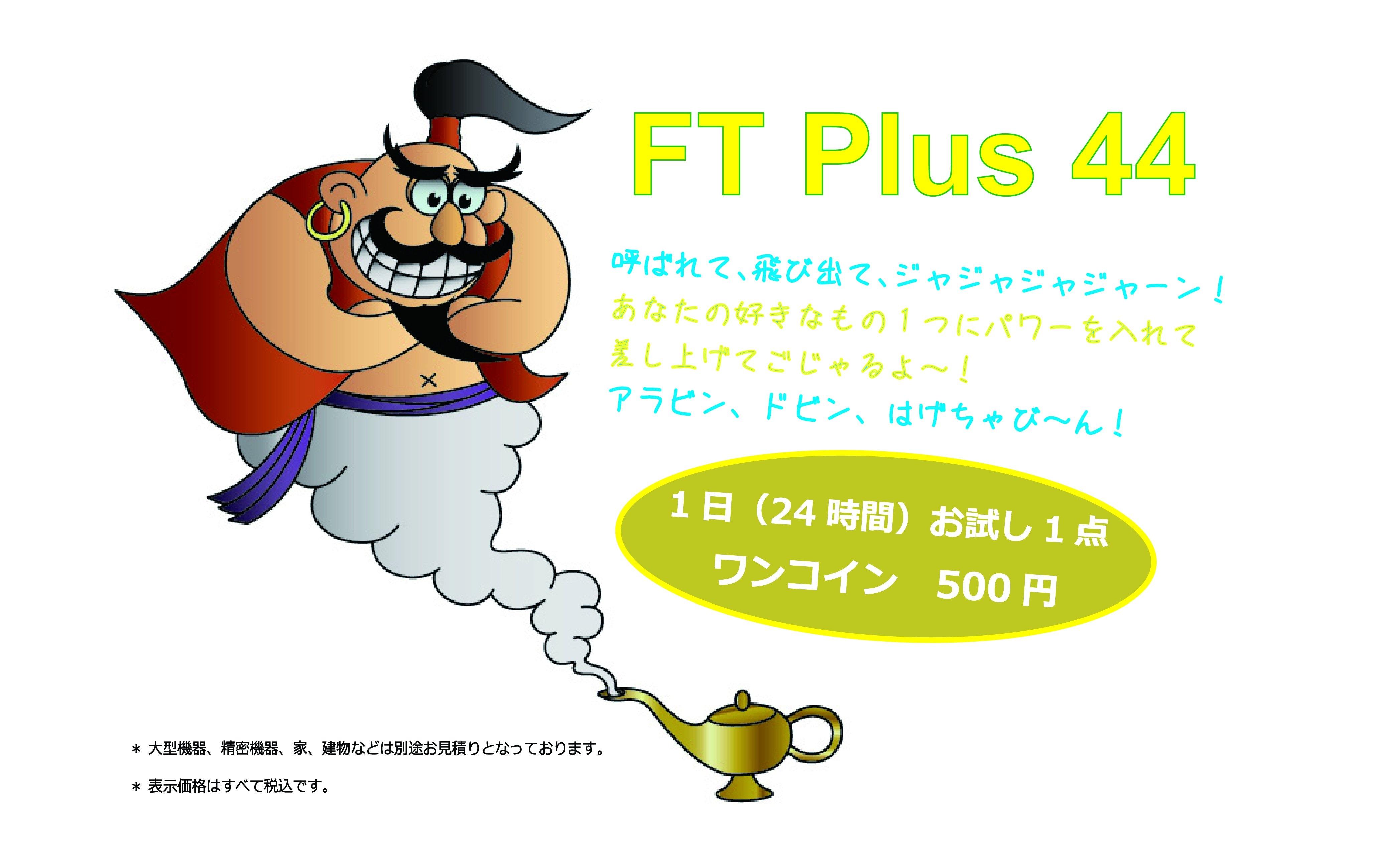 FT Plus 44 1日(24時間)おためしワンコインのイメージその1