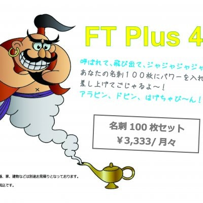 FT Plus 44 名刺100枚セット
