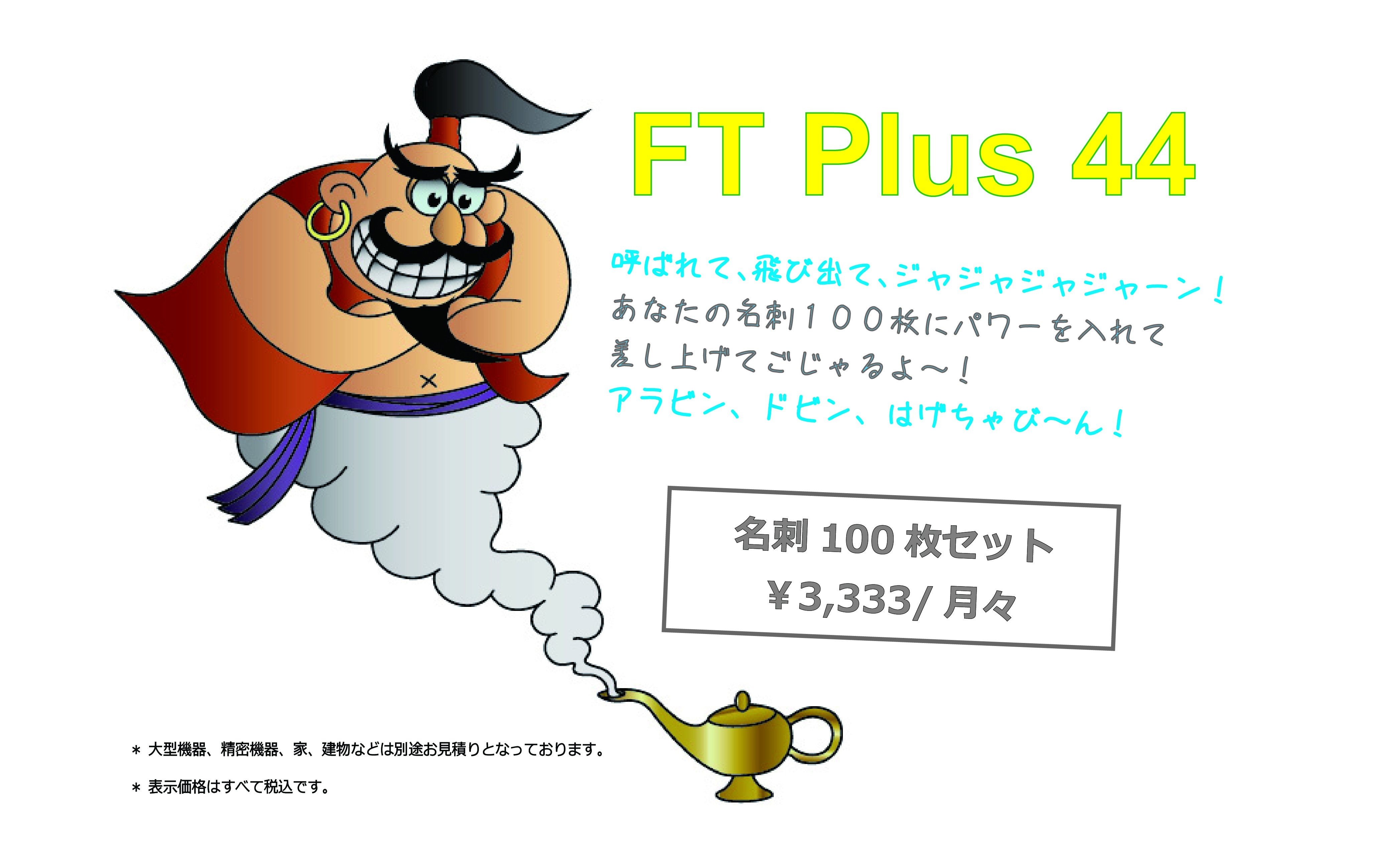 FT Plus 44 名刺100枚セットのイメージその1