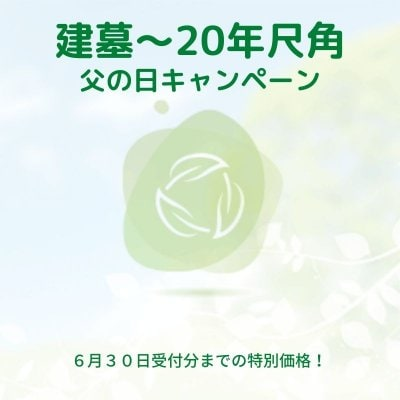 建墓〜20年尺角 父の日キャンペーン