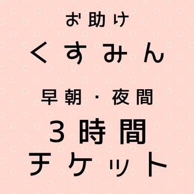 【早朝・夜間】お助けくすみん3時間コース