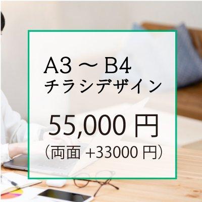 A3〜B4サイズ チラシデザイン【スタンダード】