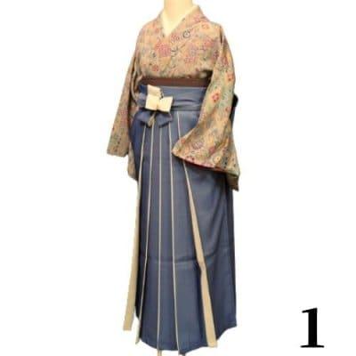 袴レンタル 卒業式 【袴のみ】カラー:1