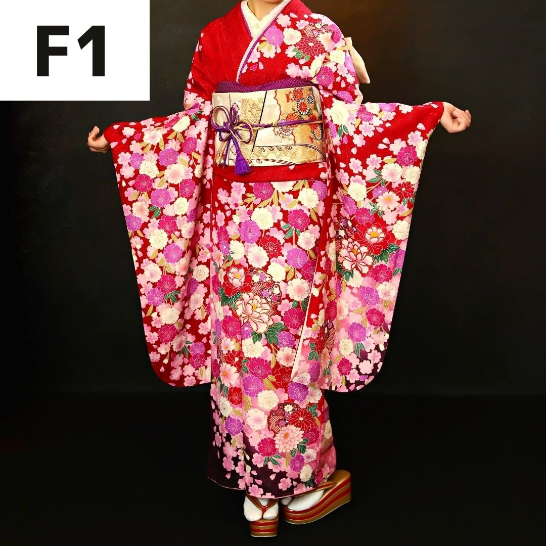 【成人式前撮り撮影】フェミニン振袖レンタル・着付け・メイク・ヘアセット・撮影2カット込みのイメージその2