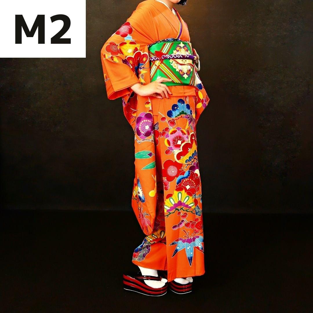 【成人式前撮り撮影】モダン原色振袖レンタル・着付け・メイク・ヘアセット・撮影2カット込みのイメージその3