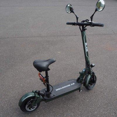 100%電気で動く折畳み可能な電動バイク ブレイズEVスクーター(カーキ色)【現地払い・銀行振り込み専用チケット】