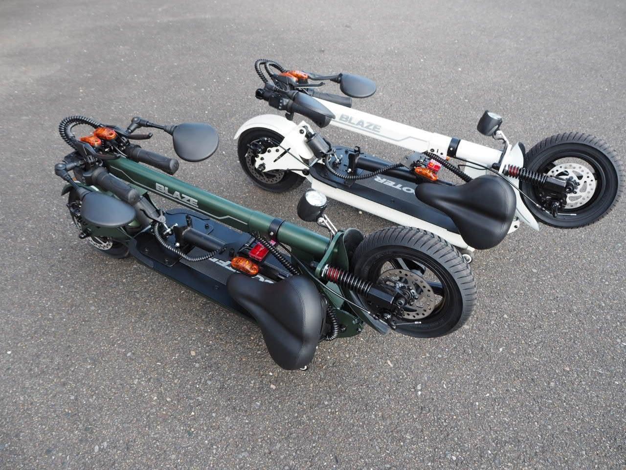 100%電気で動く折畳み可能な電動バイク ブレイズEVスクーター(ワインレッド色)【現金払い・銀行振り込み専用チケット】のイメージその2