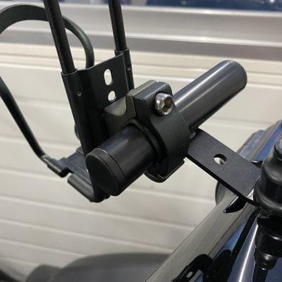 デイトナ バイク用 クランプバー ミラー用(M10/M8対応) マルチバーホルダー 100mm(カラー ブラック)