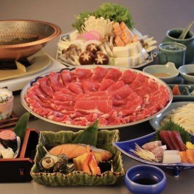 御宴会やお祝い事にオススメ/選べる鍋コース(しゃぶしゃぶ、お刺身、焼き物、茶碗蒸し、寿司など7品付きます)