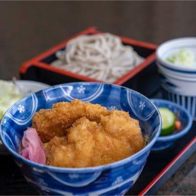 ミニタレカツ丼&蕎麦、うどん、ラーメン選べるBセット(ランチ、ディナー両方ご利用いただけます)