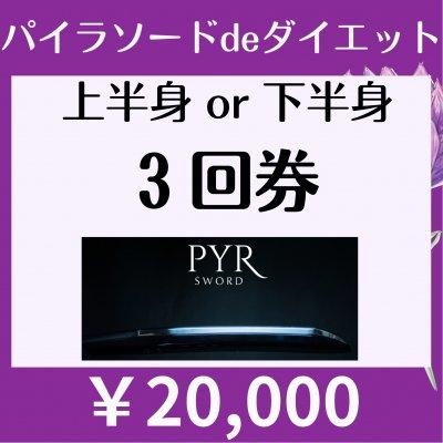 【会員様限定¥20000】パイラソード上半身or下半身3回券