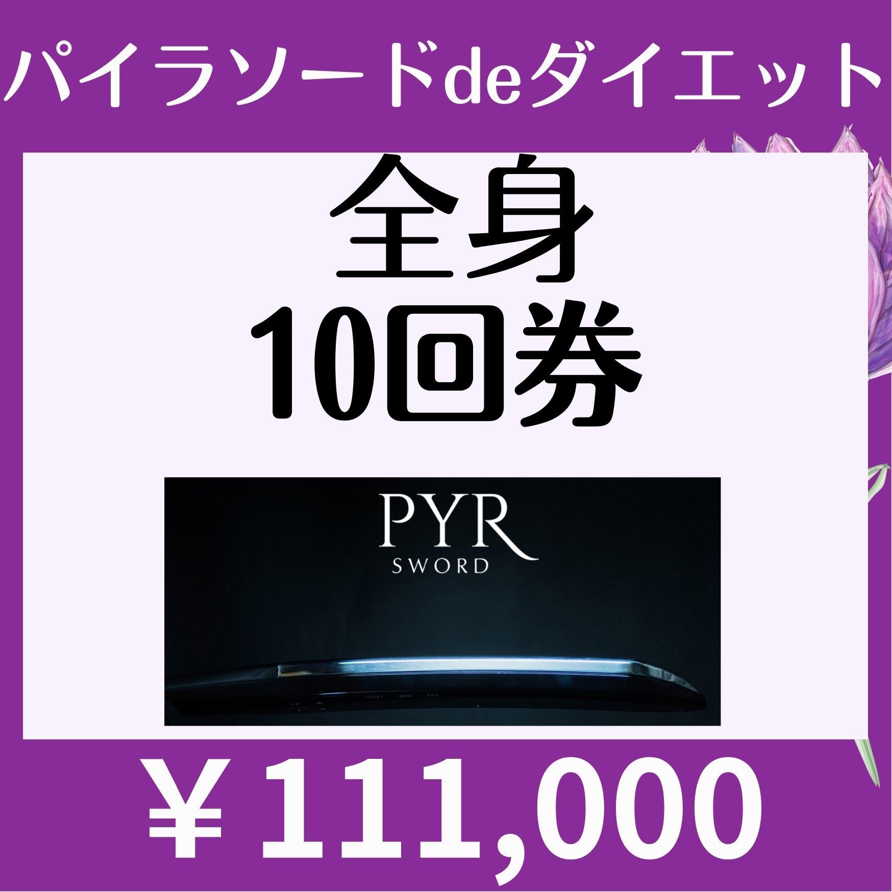 【会員様限定¥111000】パイラソード全身10回券のイメージその1